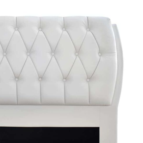 Κρεβάτι Ariane Λευκό PU 150x200